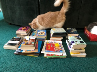 Jax checking out books